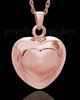 Purity Heart Cremation Jewelry 14K Rose Gold