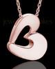 Urn Jewelry 14k Rose Gold Chic Heart Keepsake