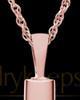 Pet Necklace Urn 14K Rose Gold Raised Paw Cylinder