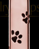 Pet Ash Pendant 14K Rose Gold Paw Cylinder Keepsake