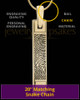 Gold Plated Bar Thumbprint Pendant