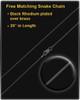 Black Plated Raised Initial Round Thumbprint Pendant