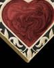 Burning Heart Gold Ash Jewelry