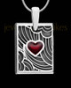 Red Boxed Heart Silver Ash Jewelry