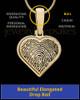 Solid 14k Gold Heart Thumbprint Pendant