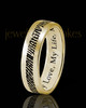 Ladies Thin Solid 14k Gold Thumbprint Ring