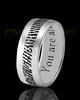 Men's Thin Sterling Silver Thumbprint Ring