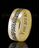 Men's Thin Solid 14k Gold Thumbprint Ring