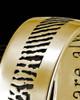 Men's Thin Solid 14k Gold Thumbprint Ring