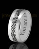 Men's Thin Solid 14k White Gold Thumbprint Ring