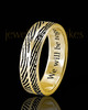 Ladies Solid 14k Gold Two Print Thumbprint Ring