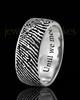 Men's Solid 14k White Gold Thumbprint Ring