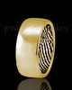 Men's Solid 14k Gold Hammered Thumbprint Ring