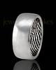Men's Solid 14k White Gold Hammered Thumbprint Ring
