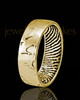 Ladies Solid 14k Gold Textured Thumbprint Ring
