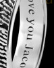 Ladies Solid 14k White Gold Heart Thumbprint Ring