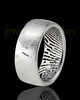 Men's Sterling Silver Textured Thumbprint Ring