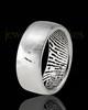 Men's Solid 14k White Gold Textured Thumbprint Ring