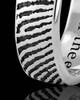 Ladies Solid 14k White Gold Thumbprint Ring