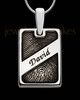 Sterling Silver Name Rectangle Thumbprint Pendant