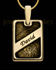 Gold Plated Sterling Name Rectangle Thumbprint Pendant