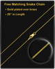 Solid 14k Gold Name Rectangle Thumbprint Pendant
