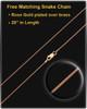Rose Gold Plated Sterling Tender Heart Square Thumbprint Pendant
