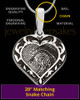 Sterling Silver Fancy Filigree Heart Thumbprint Pendant
