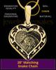 Gold Plated Sterling Fancy Filigree Heart Thumbprint Pendant