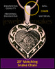 Rose Gold Plated Sterling Fancy Filigree Heart Thumbprint Pendant