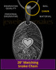 Black Plated over Sterling Heartfelt Oval Heart Thumbprint Pendant