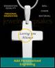 Divine Cross Sterling Silver Thumbprint Pendant