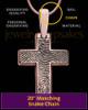Divine Cross Rose Gold over Sterling Thumbprint Pendant