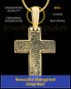 Divine Cross Solid 14k Gold Thumbprint Pendant