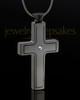 Black Plated Stainless Truthful Cross