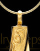 Gold Plated Stainless Turned Cylinder Cremation Jewelry