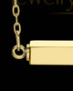 Gold Plated Elegant Bar Stainless Steel Cremation Pendant