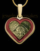 Gold Plated Sterling Colored Heart Thumbprint Pendant