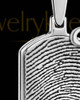 Sterling Silver Dog Tag with Birthstone Thumbprint Pendant