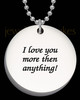 Photo Engraved Thick Large Round Pendant Stainless Steel