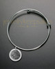 Brushed Round Thumbprint Sophisticate Bracelet