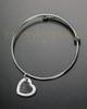 Heart Brushed Stainless Thumbprint Sophisticate Bracelet