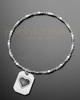 Brushed Octagon with Heart Thumbprint Luxury Bracelet