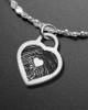 Brushed Small Heart Thumbprint Luxury Bracelet