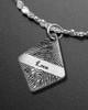 Brushed Elongated Diamond Thumbprint Luxury Bracelet