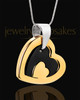 Cremation Keepsake Gold Plated Candid Heart