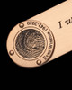 Copper Brushed Thumbprint Bookmark