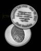 Solid Silver Satin Finish Thumbprint Memorial Coin