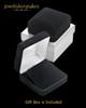 Black Plated Stainless Beloved Diamond Thumbprint Pendant