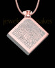 Rose Gold Plated Stainless Beloved Diamond Thumbprint Pendant